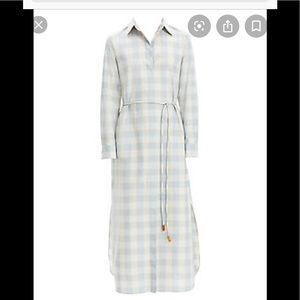Theory button down shirt dress